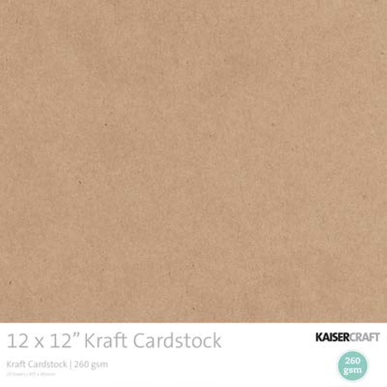 Kaisercraft CB155 12 x 12 in. Kraft Cardstock - 20 Pack