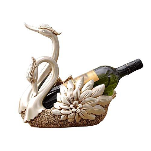 GUOCAO Estante de la botella de vino en rack de Hogares de Protección Ambiental de resina estante del vino cisne botella de vino del estante decoración de la personalidad creativa Estante del vino Est