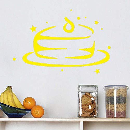 yiyiyaya Wandaufkleber Küche Restaurant Cafe Art Murals gelb 44cm X 29cm
