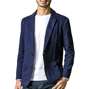 liberte riche(リベルテ リッシュ) メンズ ジャケット テーラードジャケット スウェット ビジネス カジュアル 細身 ストレッチ 6color 5サイズ展開 ネイビー M