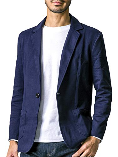liberte riche(リベルテ リッシュ) メンズ ジャケット テーラードジャケット スウェット ビジネス カジュアル 細身 ストレッチ 6color 6サイズ展開 ネイビー M