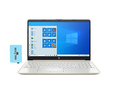 Ordinateur portable professionnel et domestique HP 15-dy1036nr-PG (Intel i5-1035G1 4-Core, 16 Go de RAM, 256 Go SSD PCIe, Intel UHD Graphics, 15.6' Full HD (1920x1080), WiFi, Bluetooth, Webcam, 2xUSB 3.1, Win 10 Home ) avec Hub