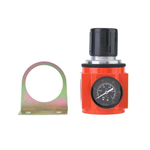 Aviviva Regulador de presión del Filtro de Aire Válvula reguladora de presión neumática 0.05-0.85MPa Puerto G1 Fuente de Aire Regulador de presión de Gas Válvula Reductora con manómetro