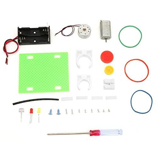 Mini generador de motor, generador eléctrico Transmisión Rueda de juguete Modelo de ensamblaje para niños Experimento físico Aprendizaje de regalo