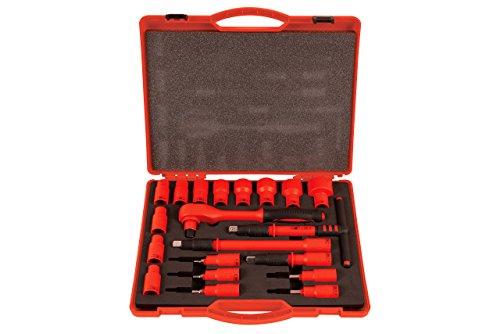 Laser 6149.0 geïsoleerde dopsleutelset, 1/2 inch aandrijving, 20-delig
