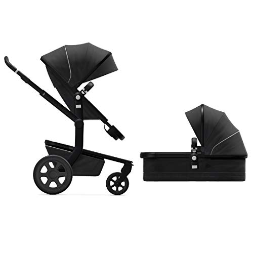 Joolz Day3 Full-Size Stroller, Includes Premium Stroller and Baby Bassinet, Reversible Seat, Compact Fold, Car Seat Compatible, Newborn to 50 lbs, Gorgeous Grey