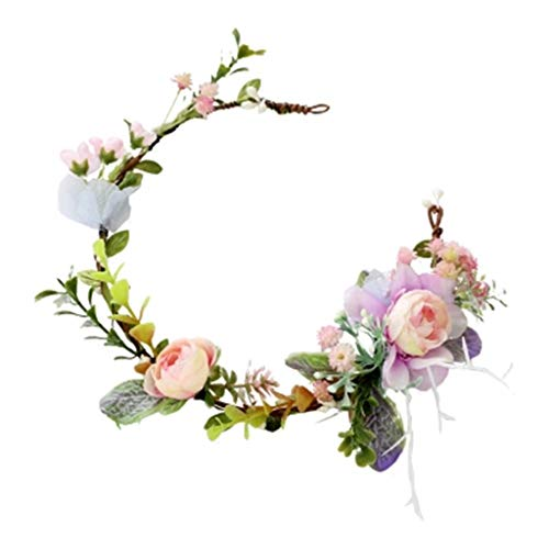 LYM Coiffure Fleur Guirlande Bandeau Fleurs Festival De Mariage Concours De Beauté Prom Bandeau Accessoires (Couleur : A)