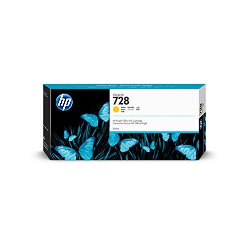 HP 728 Gelb 300 ml Original Druckerpatrone (F9K15A) mit hoher Kapazität, HP Tinte für DesignJet T730 und T830 Großformatdrucker sowie den HP 729 DesignJet Druckkopf