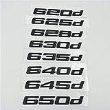 SBCX Para BMW Serie 6 E63 E64 F06 F12 F13 Negro 620d 625d 628d 630d 635d 640d 645d 650d, Car Styling Logo Trasero Trunk Emblem Logo Black