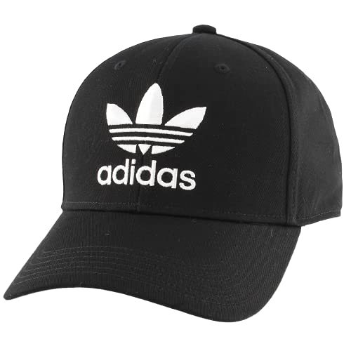 adidas Originals Men's Trefoil Structured Precurve Cap, Black/White, ONE SIZE