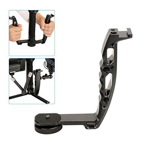 Sutefoto Dual Handle Grip Transmount Compatible para dji Ronin-s Zhiyun Crane 2/Crane M2, Crane 3, Monitor de Video Adaptador de Montaje de Micrófono