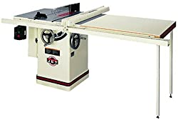 JET 708663PK JTAS-10XL50-W1 10-Inch Left Tilt 3-Horsepower 10-Inch Cabinet Saw with 50-Inch Xacta II Fence, 2 Cast Iron Extension Wings, Table Board, and Legs, 230-Volt 1-Phase - Power Table Saws