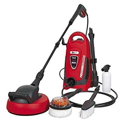 Sealey PW1600 Pressure Washer 110bar with TSS & Rotablast Nozzle 230V with Accessory Kit from Sealey
