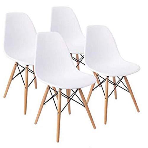 MeillAcc Ensemble de 4 chaises de Salle à Manger Modernes de Style Moderne mi-siècle de Style...