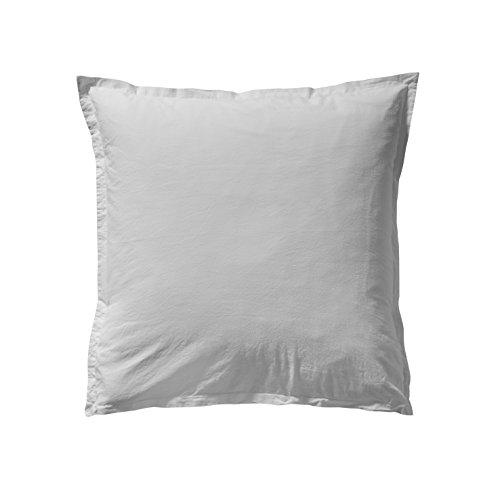 Taie d'Oreiller Unie en Coton Lavé, 65cm x 65cm, Mastic, Soft Line