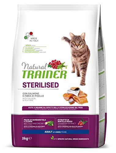Natural Trainer - Pienso para Gatos Esterilizados Adultos con Salmón - 3kg 🔥
