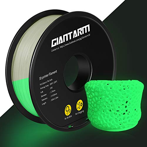 GIANTARM PLA Filament 1.75mm Luminous Grün, 3D Drucker Filament 1kg Spool
