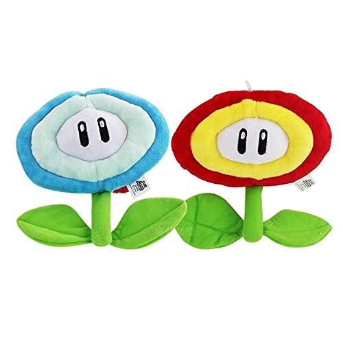 Mario Plush 2 unids/lote 17 CM Anime Plush Juguetes Super Mario Super Mario Girasol Juegos Periféricos Colgante Peluche Peluche Muñeca Juguete Regalo