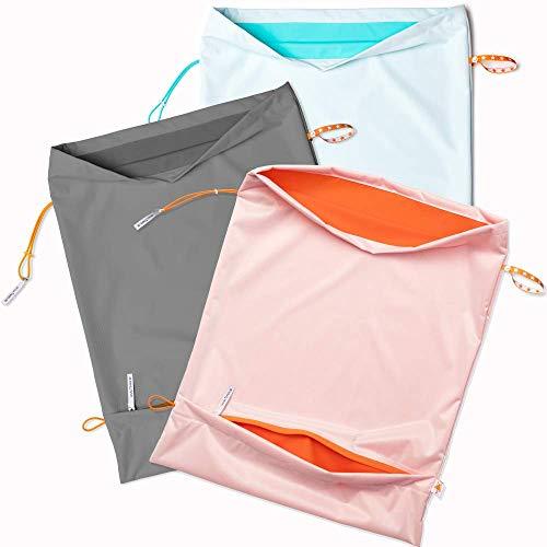 Foxy Baby® Waschsack, selbstentleerender Windelsack mit Auslaufschutz, XL Wetbag (Apfelblauseegrün)