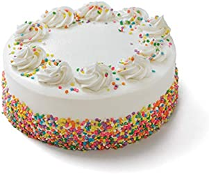 """Our Specialty 8"""" Double Layer Celebration Yellow Cake with Vanilla Buttercream Icing, 45 oz"""