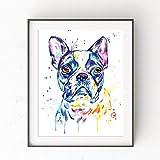 mlpnko DIY Dipingere con i Numeri Boston Terrier DIY Dipingere con i Numeri Dipinto ad Olio preprint Tela per Adulti e Principianti