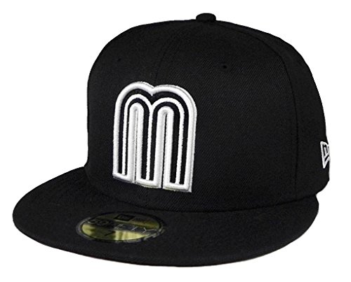 New Era 59fifty World Baseball Classic Mexico Fitted hat Cap Black/White Men Size (7 1/2)