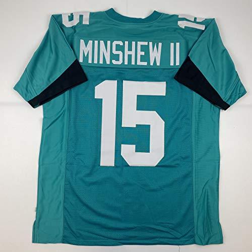Unsigned Gardner Minshew II Jacksonville Teal Custom Stitched Football Jersey Size Men's XL New No Brands/Logos