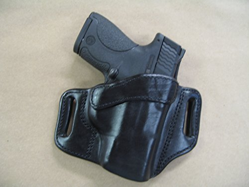 Walther PPS 9mm / .40 OWB Leather 2 Slot Molded Pancake Belt Holster CCW Black RH