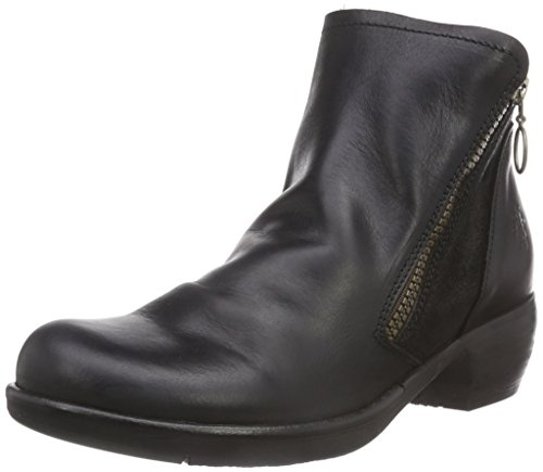 Fly London Meli, Damen Chelsea Boots, Schwarz (Black 007), 41 EU (8 Damen UK)