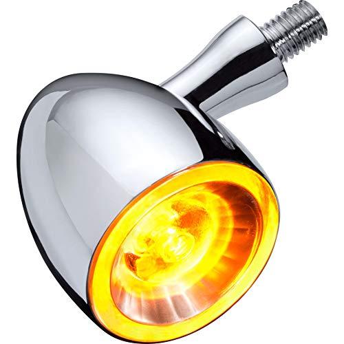 Kellermann Motorrad Blinker E geprüft LED Metall Blinker M8 Bullet 1000® Extreme Chrom, Unisex, Multipurpose, Ganzjährig