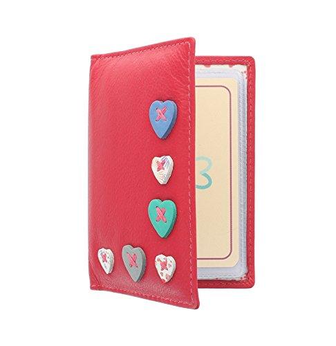 Mala Leather Collezione LUCY Portacarte di Credito con Protezione RFID 583_30 Lampone