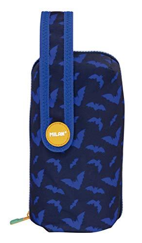 Milan 08872BAT Kit 4 Estuches con Contenido Bats&Bites Azul Estuches, 22 cm, Azul
