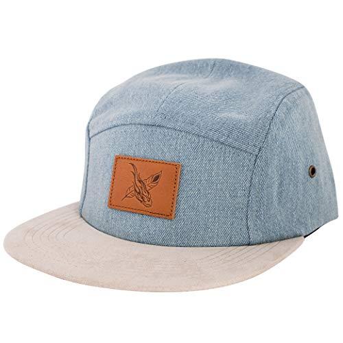 Blackskies Denim Beast 5-Panel Cap Sombrero Mezclilla Azul Gamuza Unisex Gorras de Béisbol