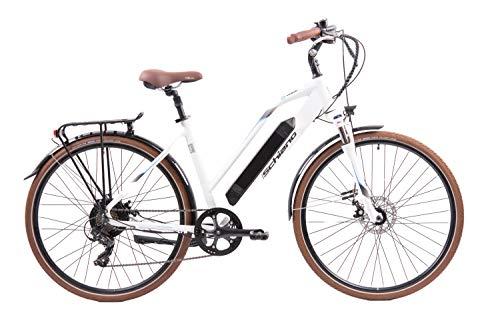 F.lli Schiano E- Voke Bicicleta, Adulto Unisex, Blanca, 28 '