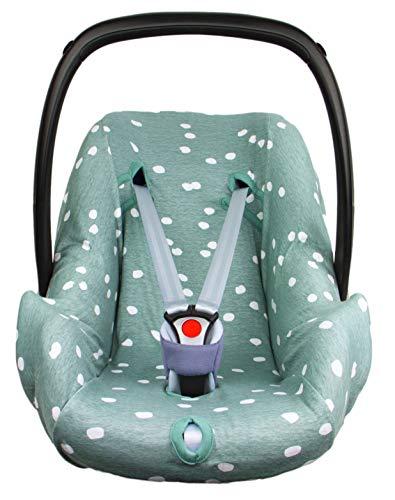 BriljantBaby ** BabyFit Spots 100% algodón Interlock Jersey ** Funda para Maxi-cosi...