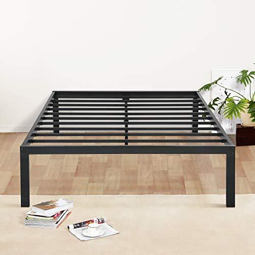 Olee Sleep 18inch Tall Steel Slat / Non-slip Support S-3500 High Profile Platform Bed Frame, King