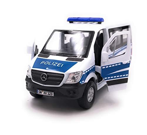 Onwomania Sprinter Polizei Modellauto mit Wunschkennzeichen Auto Maßstab 1:34 (lizensiert)