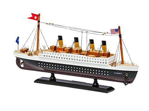 aubaho Modello di Nave Titanic Modello di Nave di Legno della Nave 35cm nessun Kit