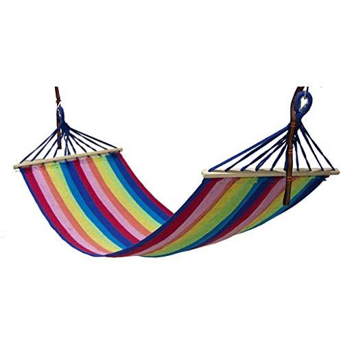 UWY Recreación Lona Hamaca de Palo de Madera Hamaca portátil de Viaje para Acampar Al Aire Libre Columpio Grueso para Acampar Regalos para Excursionistas