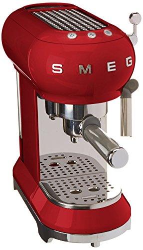 SMEG Máquina de café expreso ECF01RDEU,...