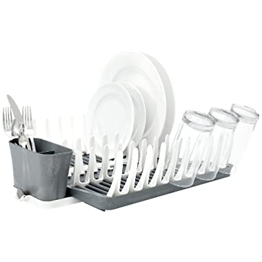 Full Circle Smart Rack Collapsible Dish Drying Rack, Bright Graphite