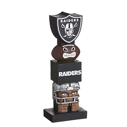 Team Sports America NFL Oakland Raiders 16 Inch Tiki Totem