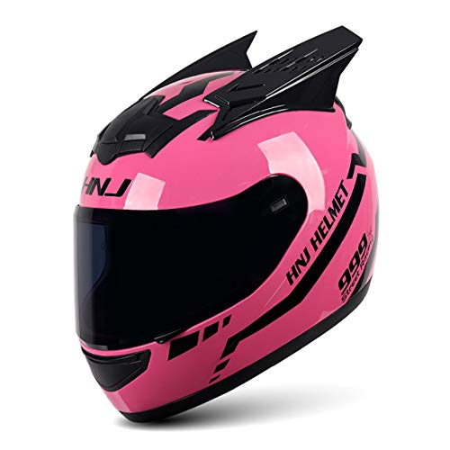 DHRBK Cascos de Moto Cascos integrales Cascos Todoterreno Cascos de Motocross con Visera ECE Visera Solar para Mujeres Hombres Adultos