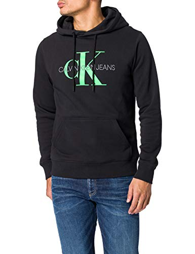 Calvin Klein Jeans Monogram REG Hoodie, CK Black, XL Homme