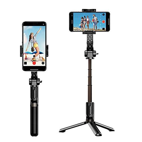 IYUNDUN Selfie Stick Vlog per Fotocamera del Cellulare, Stabilizzatore Antivibrazioni con Bluetooth, Telecomando, Rotazione A 360 Gradi, Palmare per iPhone