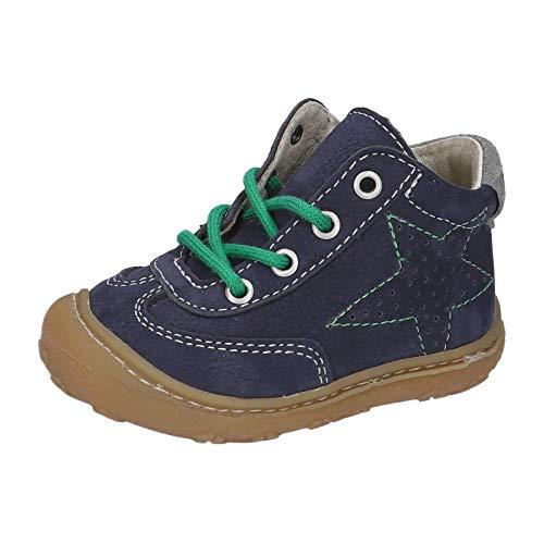 RICOSTA Unisex - Kinder Lauflern Schuhe SAMI von Pepino, Weite: Mittel (WMS),terracare, schnürschuh schnürstiefelchen flexibel,See,18 EU / 2 Child UK