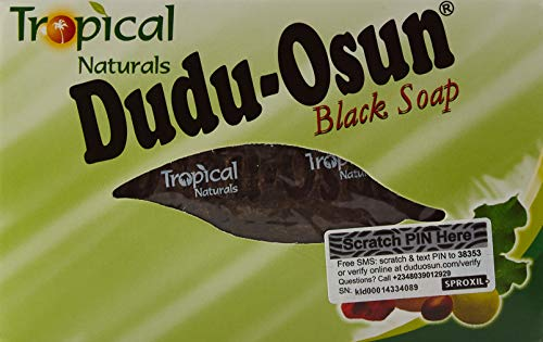 Tropical Naturals Dudu-Osun, Savon noir Africain 100% naturel, 150g, Lot de 6