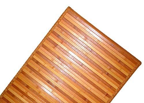 DEMONA TAPPETI Bamboo Bambu Varie Misure E Colori Legno PEDANA Moderno STUOIA Bagno Cucina CORRIDOIO Ingresso Design Impermeabile Antiscivolo TAPPETINI SPEDIZIONE Gratuita Offerta (NMB1, 50X140CM)