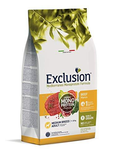 Exclusion MEDITERRANEO MONOPROTEICO Noble Grain Adult Manzo Medium 12KG