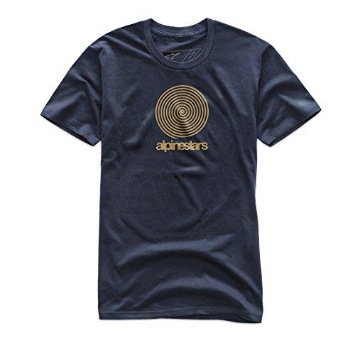 Alpinestar The Spiral Premium tee Camiseta, Hombre, Azul Marino, M